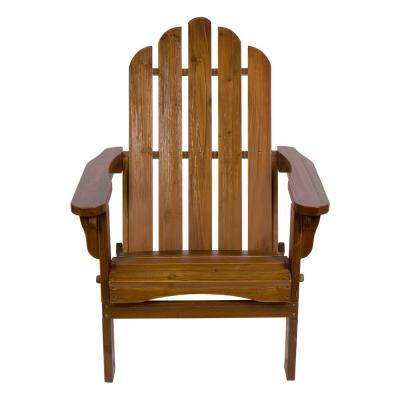 Marina II 37 in. Tall Oak Cedar Wood HYDRO-TEX Finish Adirondack Folding Chair