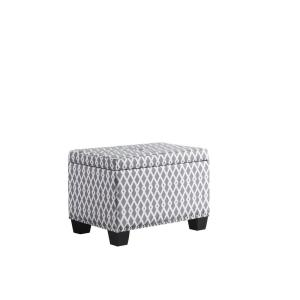 Fabulous 17 In Gray White Diamond Storage Ottoman With 1 Storage Alphanode Cool Chair Designs And Ideas Alphanodeonline
