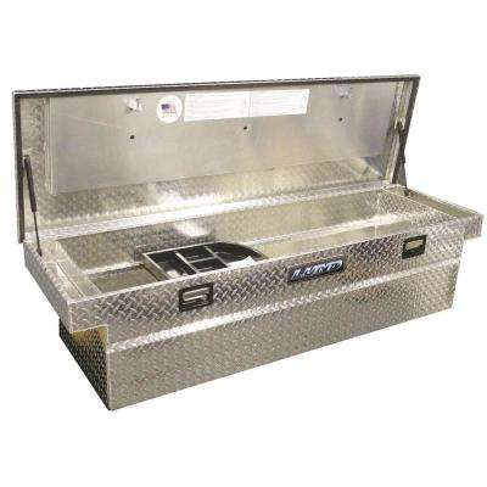 61 in Diamond Plate Aluminum Full Size Crossbed Truck Tool Box