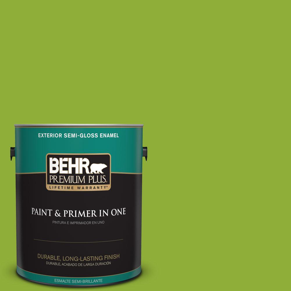 1-gal. #420B-6 New Green Semi-Gloss Enamel Exterior Paint