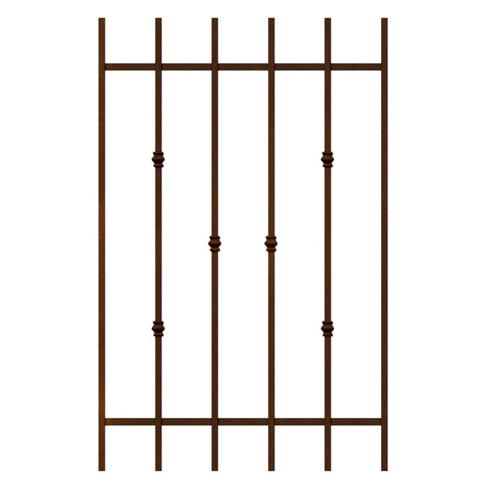 Unique Home Designs Cabo Bella 30 in. x 48 in. Copper 6-Bar Window Guard-DISCONTINUED