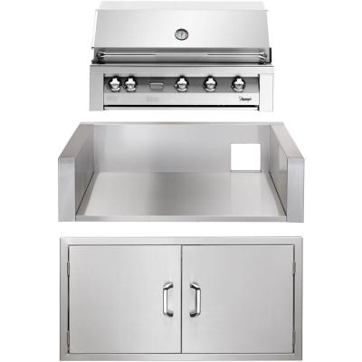 42 in. Built-In Natural Gas Grill in Stainless with Double Access Doors and Insulated Jacket
