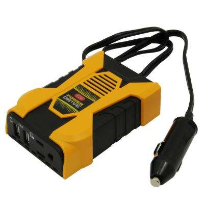 120-Watt Slim Plug-In Inverter with 1 AC and 2 USB Ports