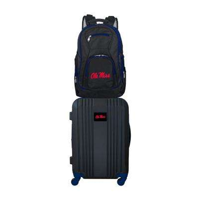 NCAA Mississippi Ole Miss 2-Piece Set Luggage and Backpack