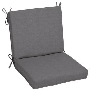 Oak Cliff 22 x 40 Sunbrella Cast Slate Mid Back Outdoor Dining Chair Cushion