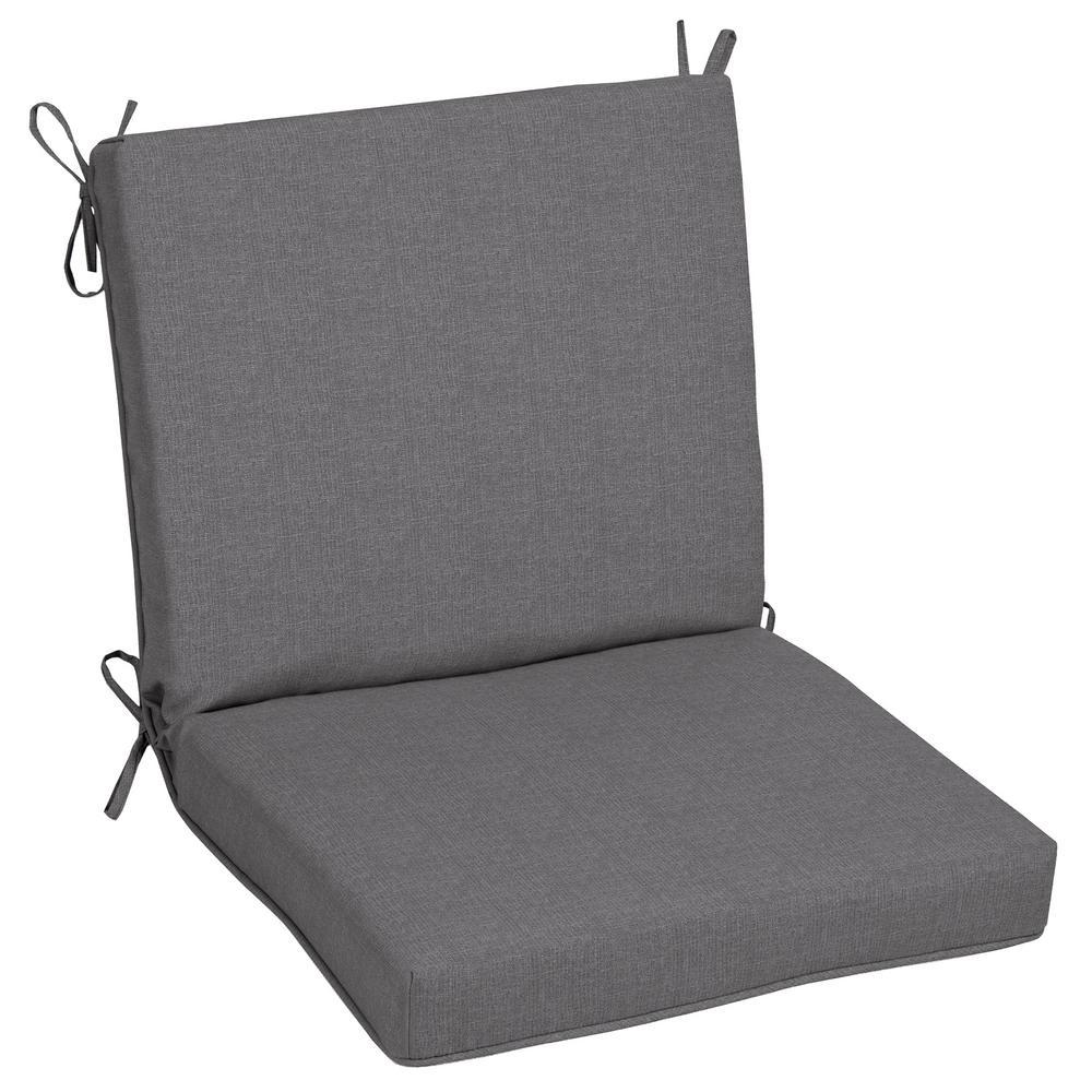 22 x 40 Sunbrella Cast Slate Mid Back Outdoor Dining Chair Cushion