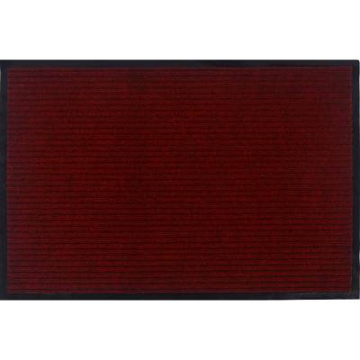 Otto Grip Collection Red 24 in. x 36 in. PVC Backing Solid Indoor/Outdoor Doormat