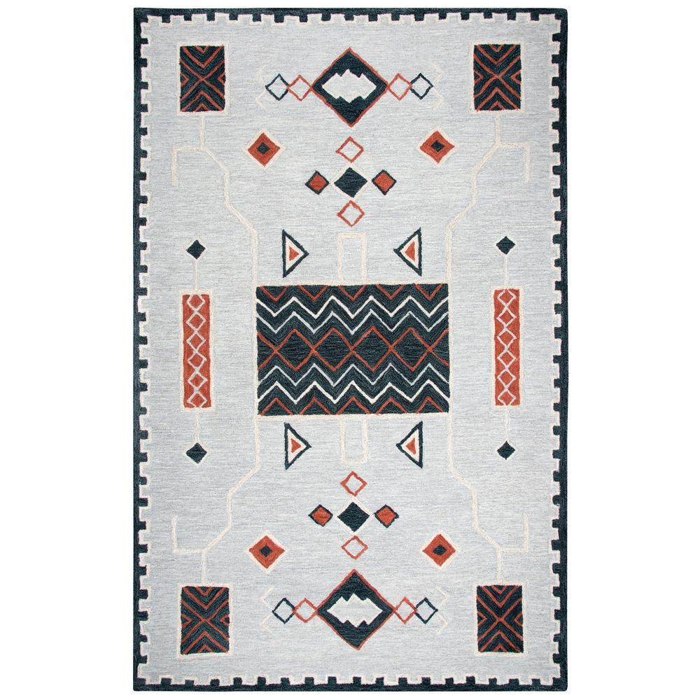 Mesa Gray Multicolor Southwestern 8 ft. x 11 ft. Area Rug