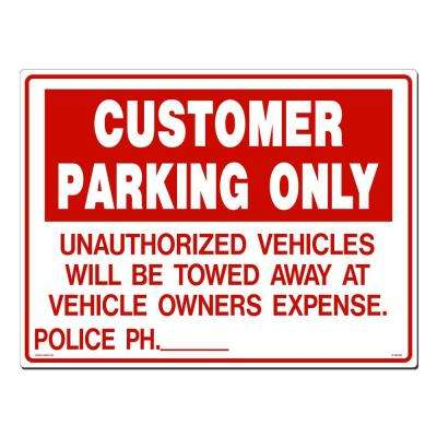 24 in. x 18 in. Customer Parking Sign Printed on More Durable, Thicker, Longer Lasting Styrene Plastic
