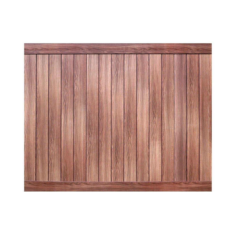Veranda Pro Series 6 ft. H x 8 ft. W Walnut Vinyl Anaheim Privacy Fence Panel - Unassembled