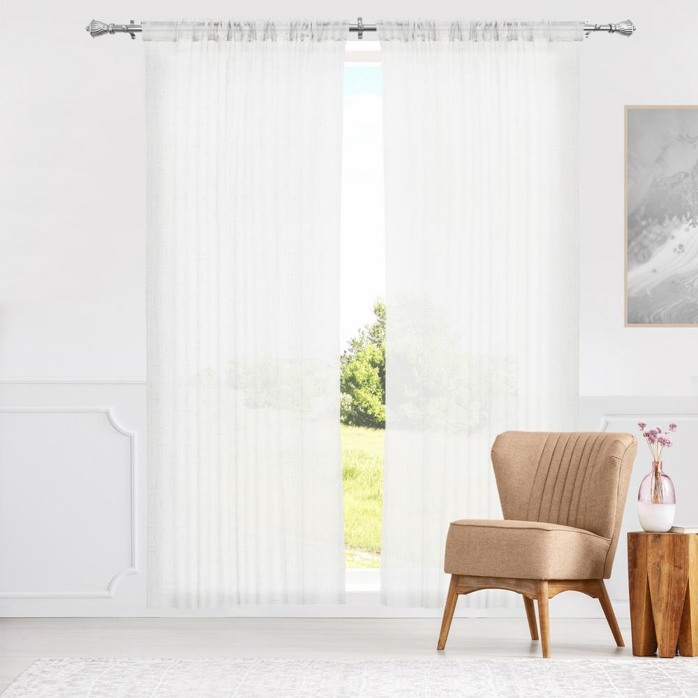 L Window Panel In White 2 Pack