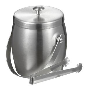 Visol Symon Stainless Steel Double Wall Ice Bucket with Tongs by Visol