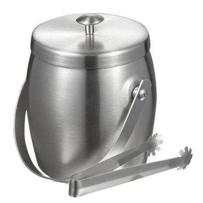 Symon Stainless Steel Double Wall Ice Bucket with Tongs