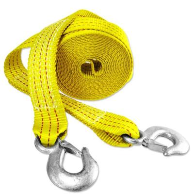 4,500 pound Strength Capacity with Safety Steel Forged Hooks Secure It Recovery Tow Safety Rope 14 feet x 1.25 inches Yellow