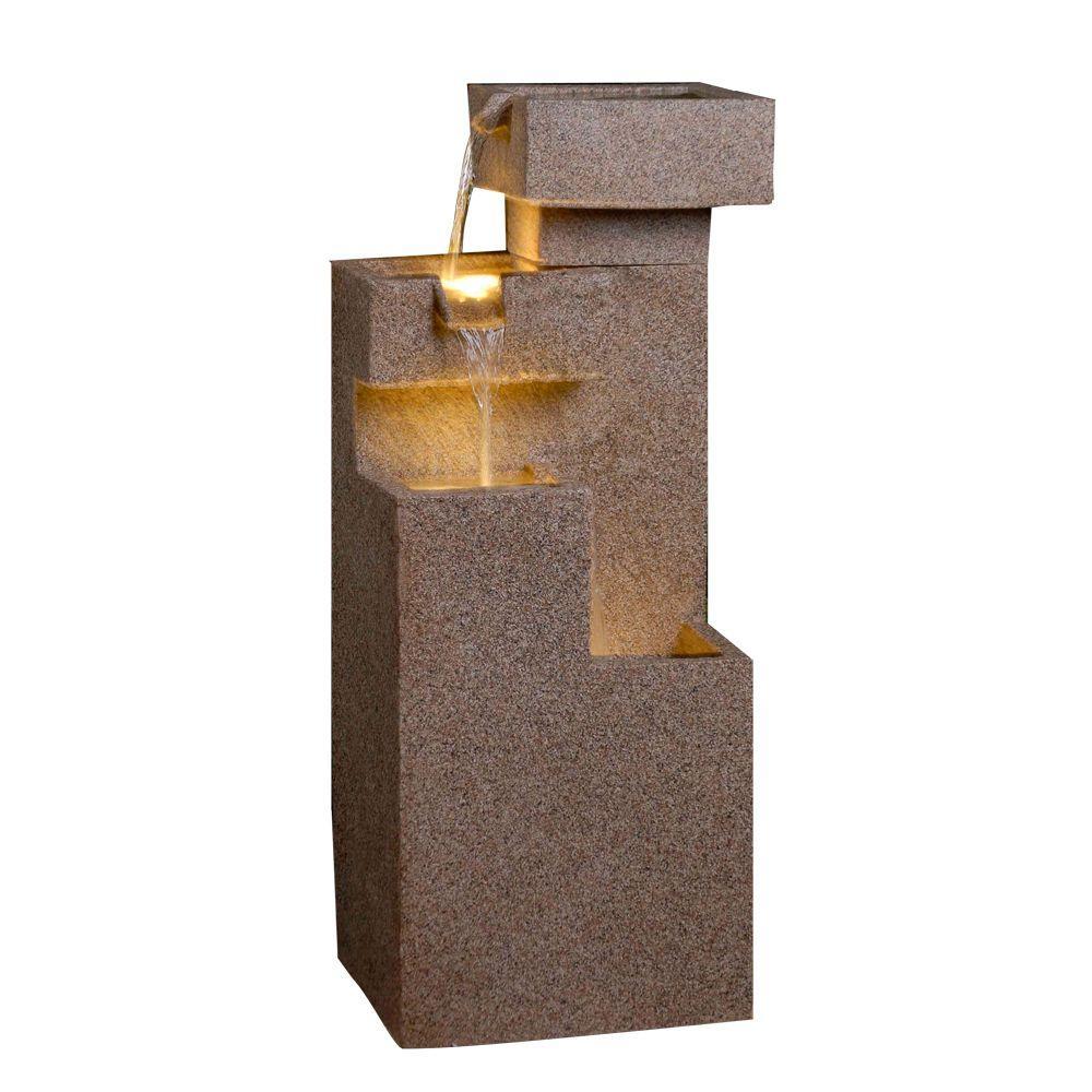 Fountain Cellar Sand Stone Cascade Tires Outdoor/Indoor Lighted Fountain by Fountain Cellar
