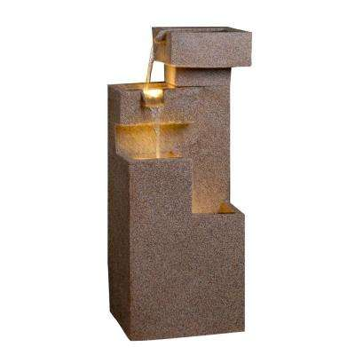 Sand Stone Cascade Tires Outdoor/Indoor Lighted Fountain