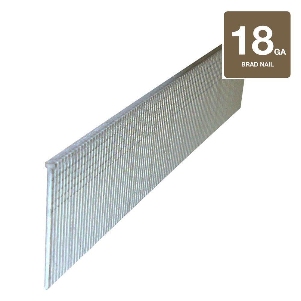 Hitachi 1 in. x 18-Gauge Electro Galvanized Brad Nails (5,000-Pack)
