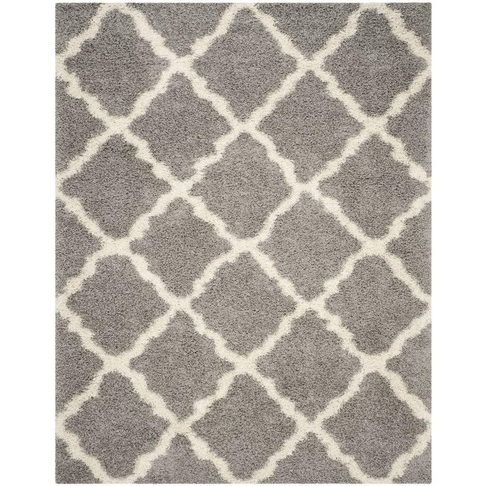 Safavieh Dallas Shag Gray Ivory 8 Ft X 10 Ft Area Rug