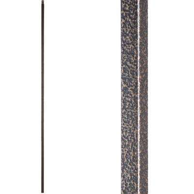 Versatile 44 in. x 0.5 in. Copper Vein Plain Square Bar Hollow Wrought Iron Baluster
