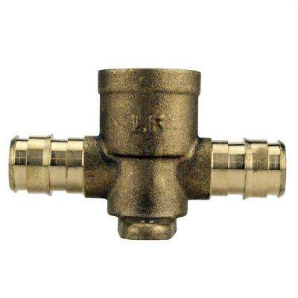 1/2 in. Brass PEX-A Barb x Brass PEX Barb x Female Pipe Thread Drop-Ear Tee
