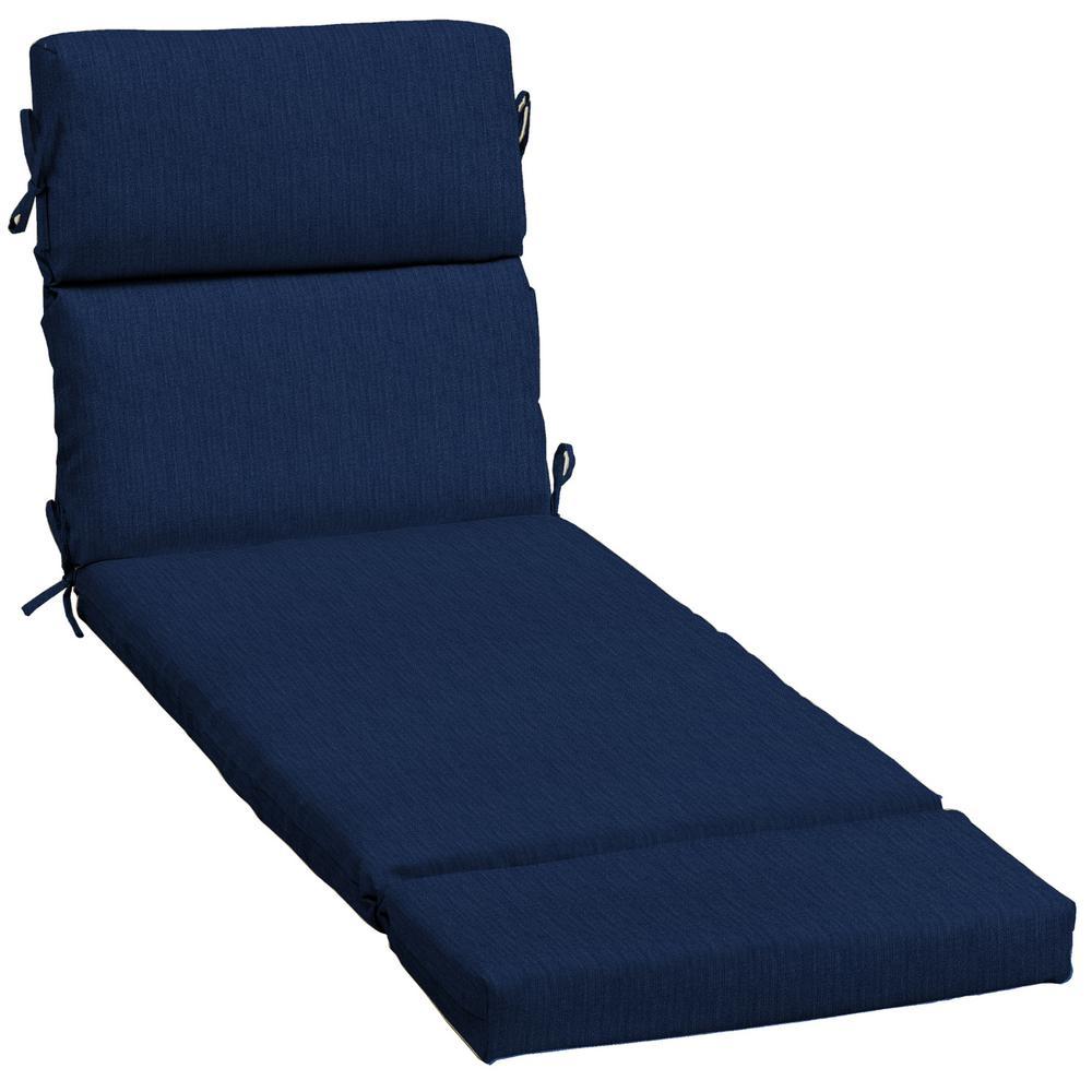 Home Decorators Collection 23 x 73 Sunbrella Spectrum Indigo Outdoor Chaise Lounge Cushion