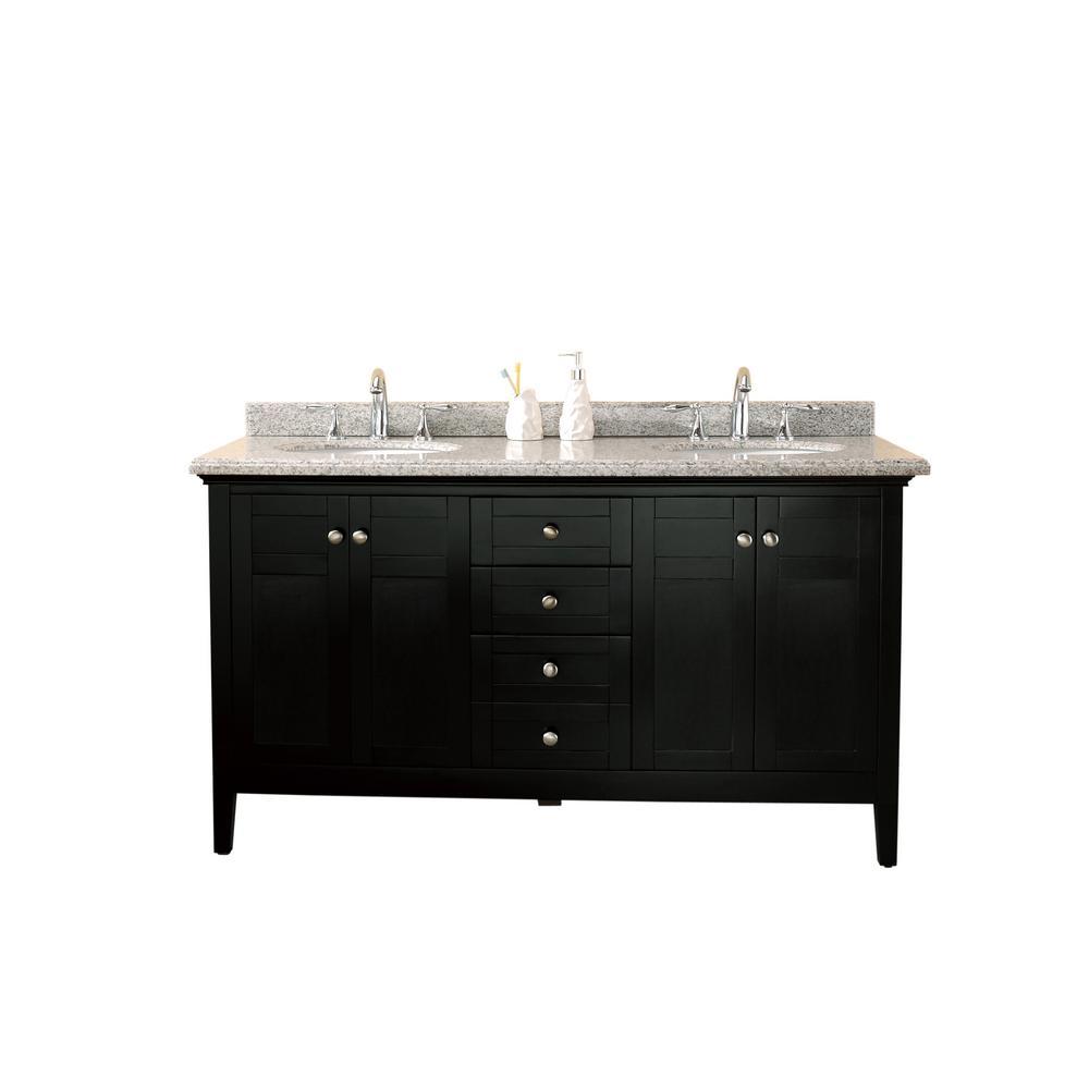Vanity Espresso Granite Vanity Top Speckled Grey White Basin