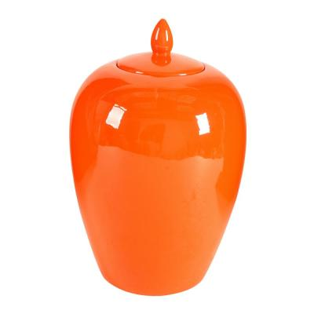 Modern Orange Large Lidded Jar