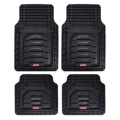 Black All Weather 4-Piece 28.5 in. x 18.5 in. Adventure Class PVC Car Mat