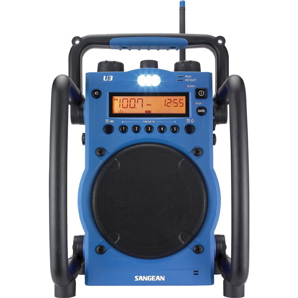 Sangean AM/FM Ultra Rugged Digital Tuning Radio in Blue