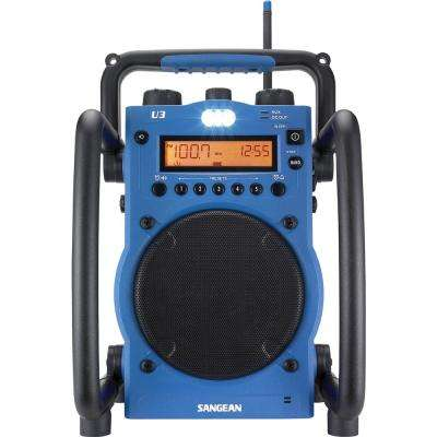 AM/FM Ultra Rugged Digital Tuning Radio in Blue