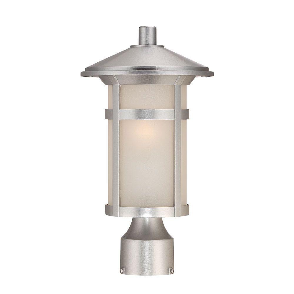 Phoenix 1-Light Architectural Bronze Outdoor Post Lantern