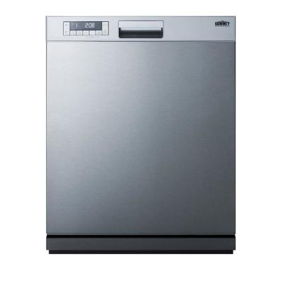 24 in. Stainless Steel Front Control Smart Dishwasher 120-volt with Stainless Steel Tub
