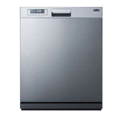 24 in. Front Control Dishwasher in Stainless Steel, ADA Compliant