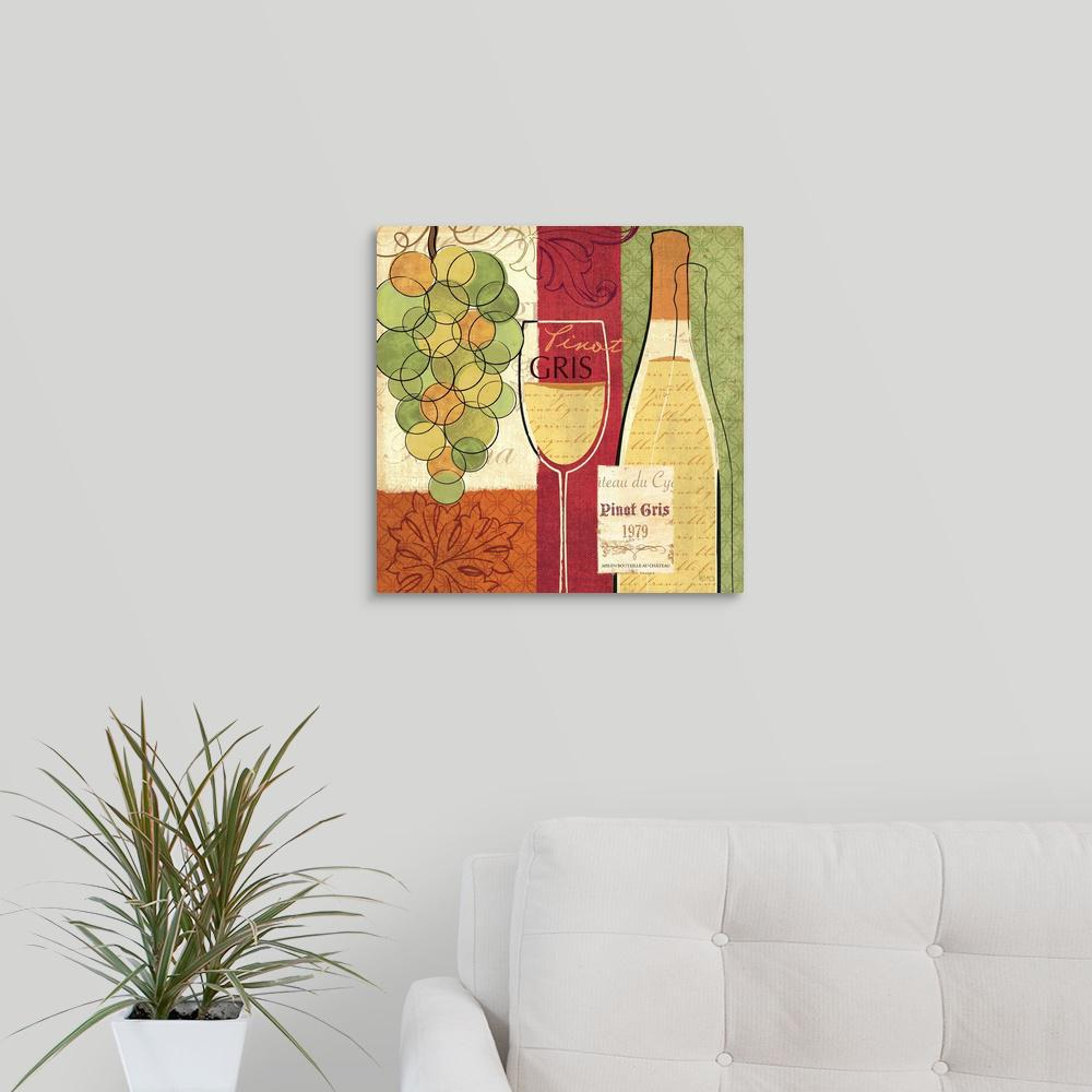 Greatbigcanvas Wine And Grapes Ii By Veronique Charron Canvas Wall