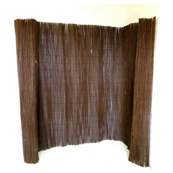 14 ft. L x 6 ft. H Woven Willow Fence