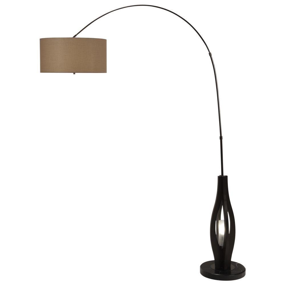 NOVA Astrulux 85 in. Dark Brown Incandescent Floor Lamp-DISCONTINUED