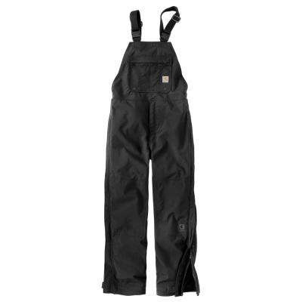 Men's Medium Black Nylon Shoreline Wpb Bib Overalls