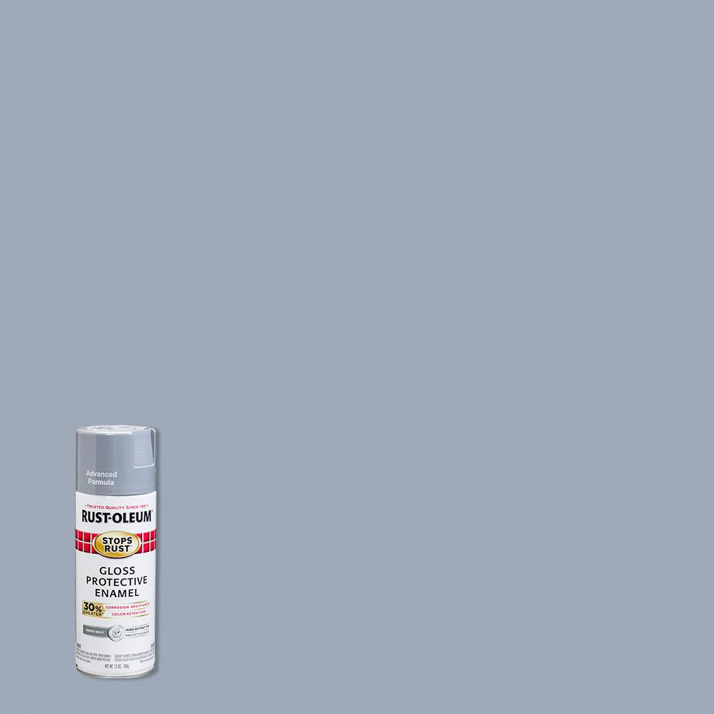 Rust-Oleum Stops Rust 12 oz. Advanced Protective Enamel Gloss Smoke Gray Spray Paint (6 Pack)