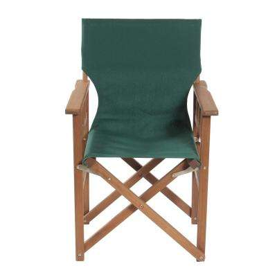 Green Fabric Seat Outdoor Safe Folding Campaign Chair