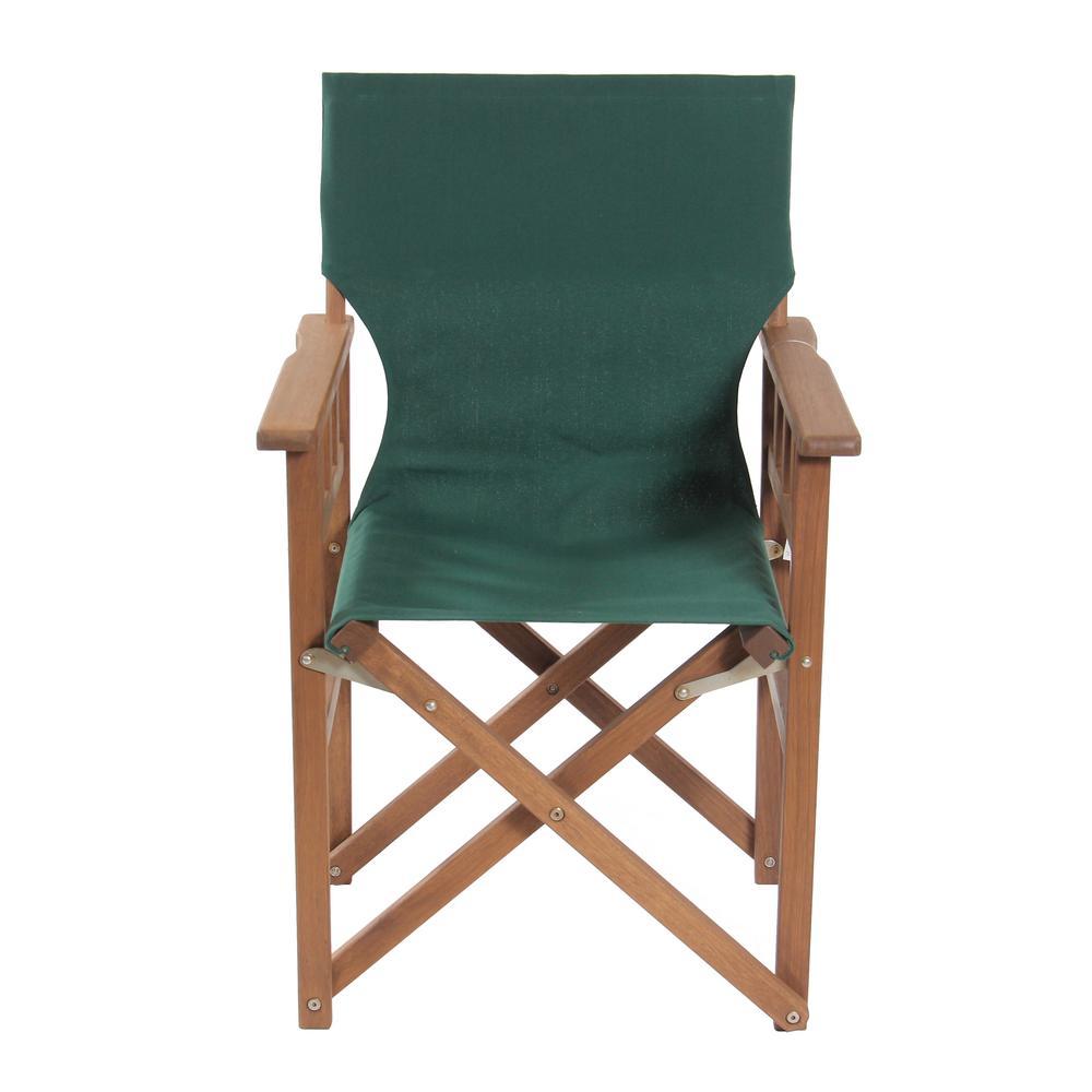 Green Keruing Wood Folding Campaign Chair