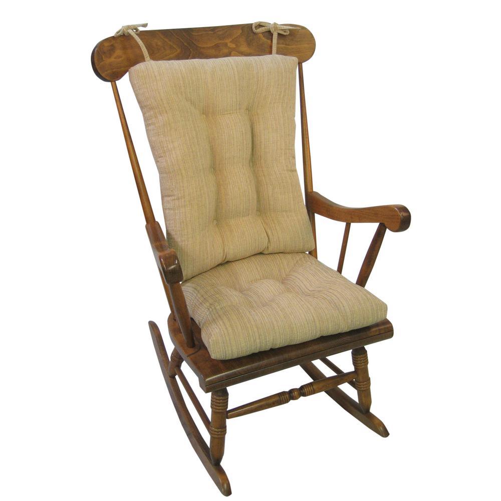 Gripper Polar Chenille Sand Jumbo Rocking Chair Cushion Set