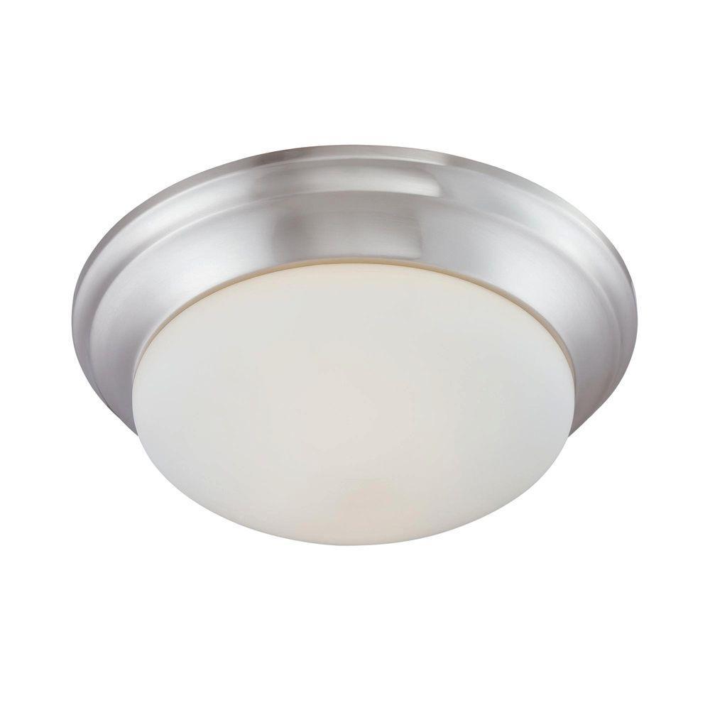 Meuble Salle De Bain Nancy ~ Thomas Lighting 2 Light Brushed Nickel Ceiling Flushmount 190033217