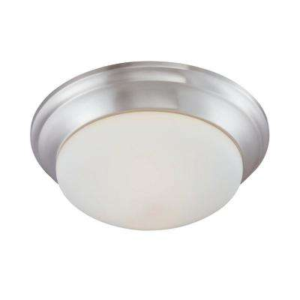 2-Light Brushed Nickel Ceiling Flushmount