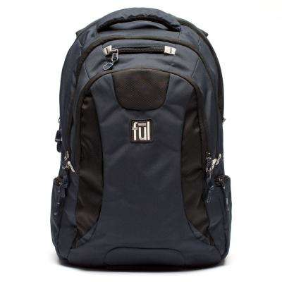 Unisex Black, Navy Navigator Padded Laptop Backpack Fits Upto 15 in. Laptops