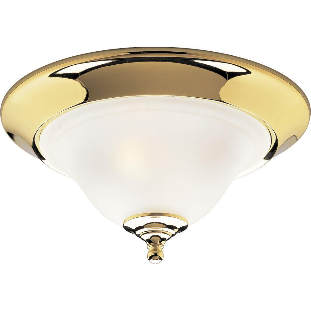 Progress Lighting Trinity Collection Polished Brass 2-light Flushmount-DISCONTINUED