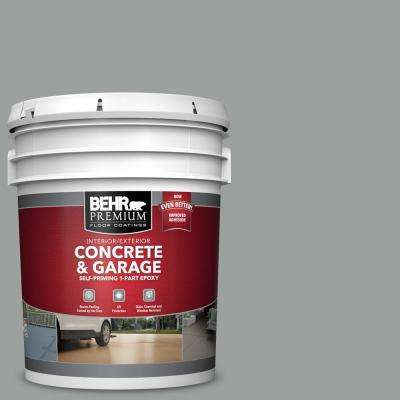 5 gal. #N460-4 Cosmic Quest Self-Priming 1-Part Epoxy Satin Interior/Exterior Concrete and Garage Floor Paint