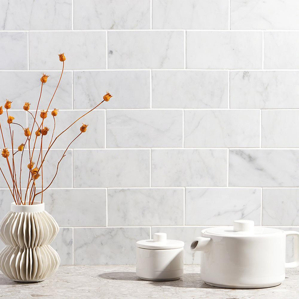 Ivy Hill Tile White Carrara 3 In X 6