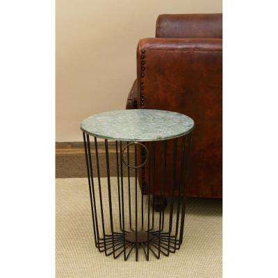Rustic Metal Wire 18 in. Stool