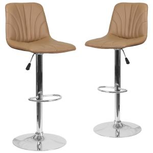 Pleasant 33 25 In Cappuccino Bar Stool Set Of 2 Machost Co Dining Chair Design Ideas Machostcouk