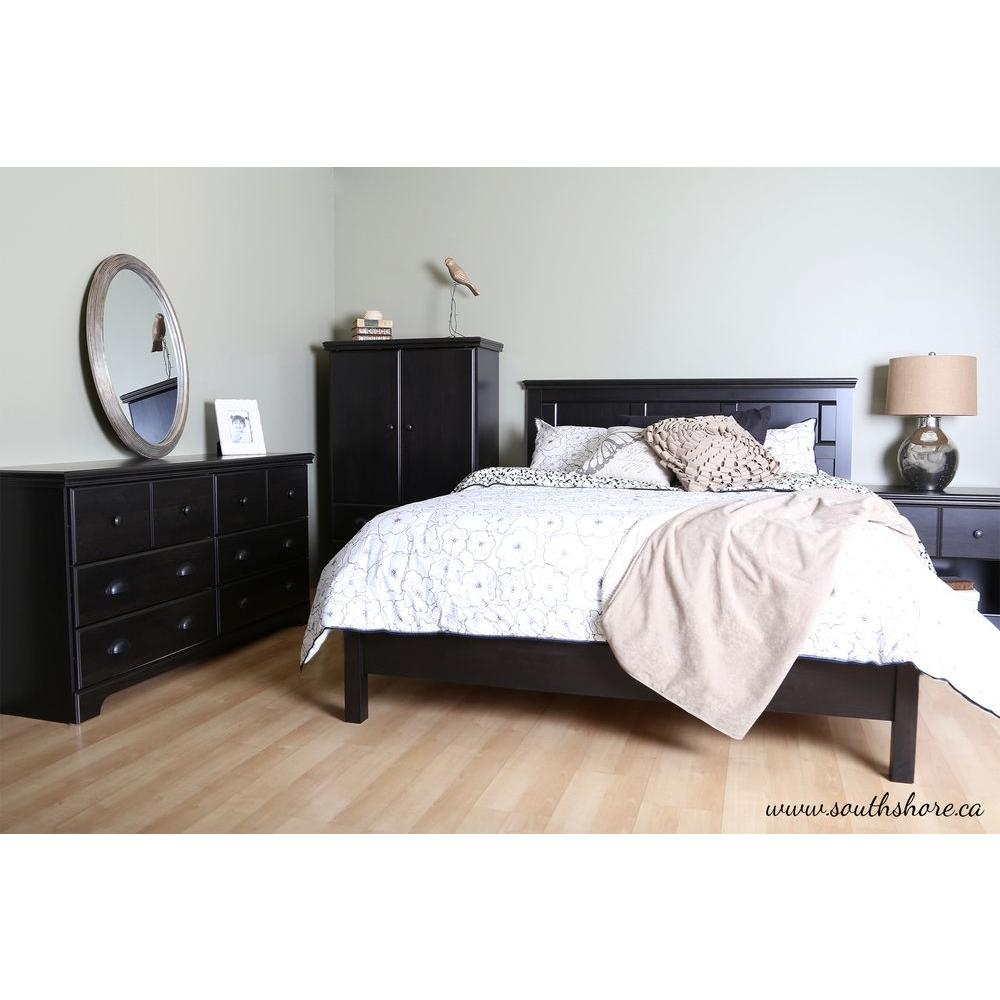 Mountain Lodge 1-Drawer Nightstand in Ebony